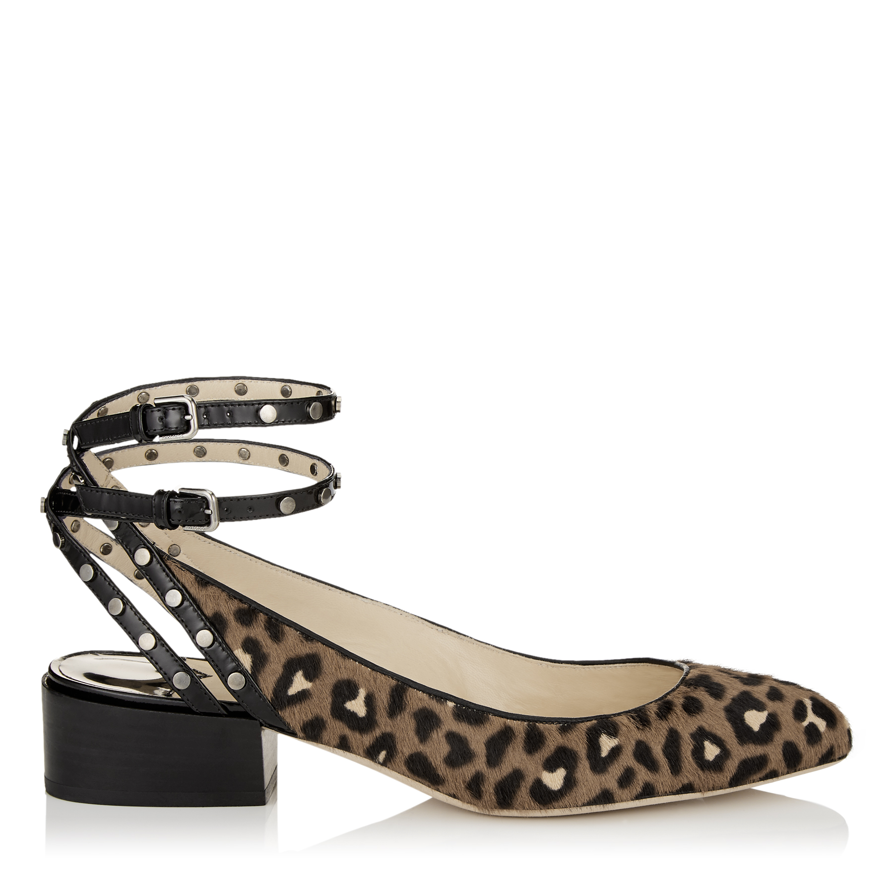 DANIELA 30 Hazelnut Mix Leopard Print Pony Round Toe Pumps by Jimmy Choo