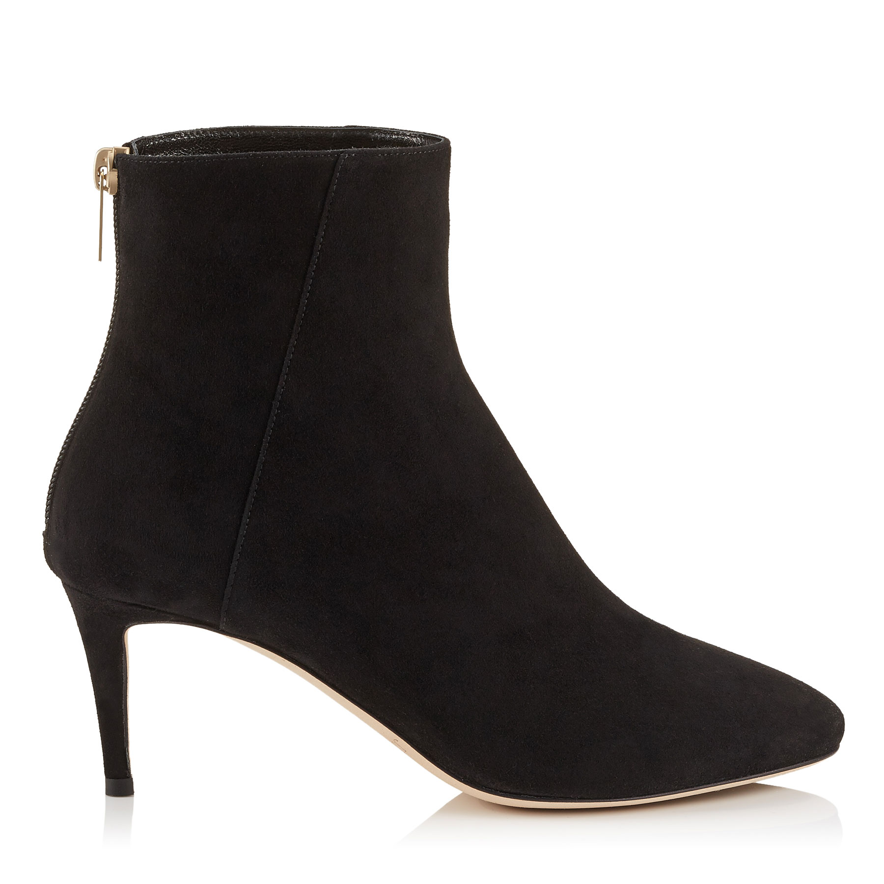 DUKE 65 Black Suede Ankle Boots by Jimmy Choo