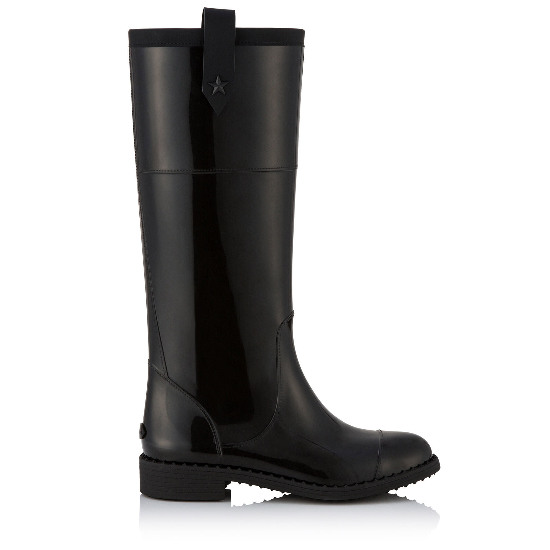 EDITH FLAT Black TPU Rain Boot by Jimmy Choo