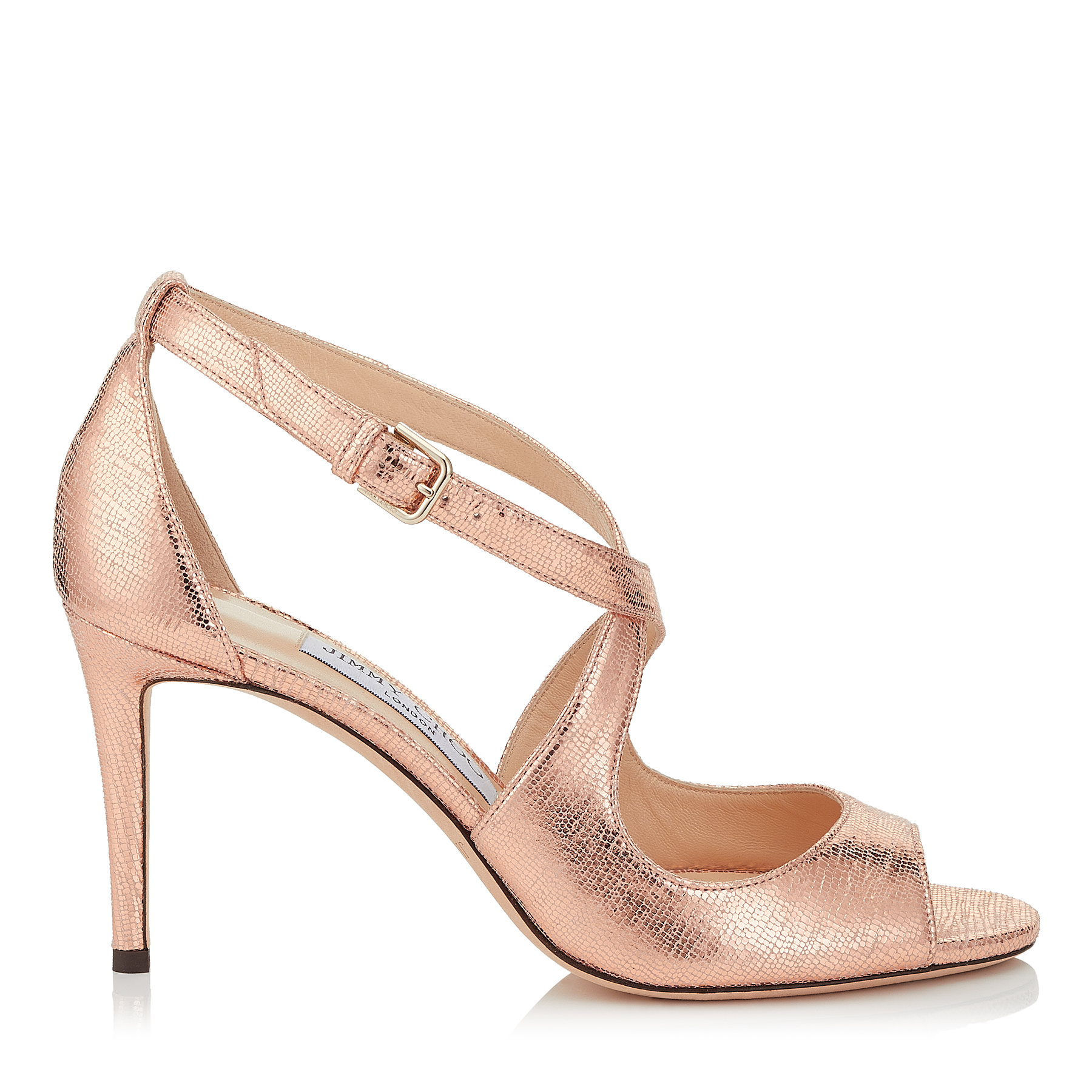 EMILY 85 Metallic Printed Leather Sandals by Jimmy Choo