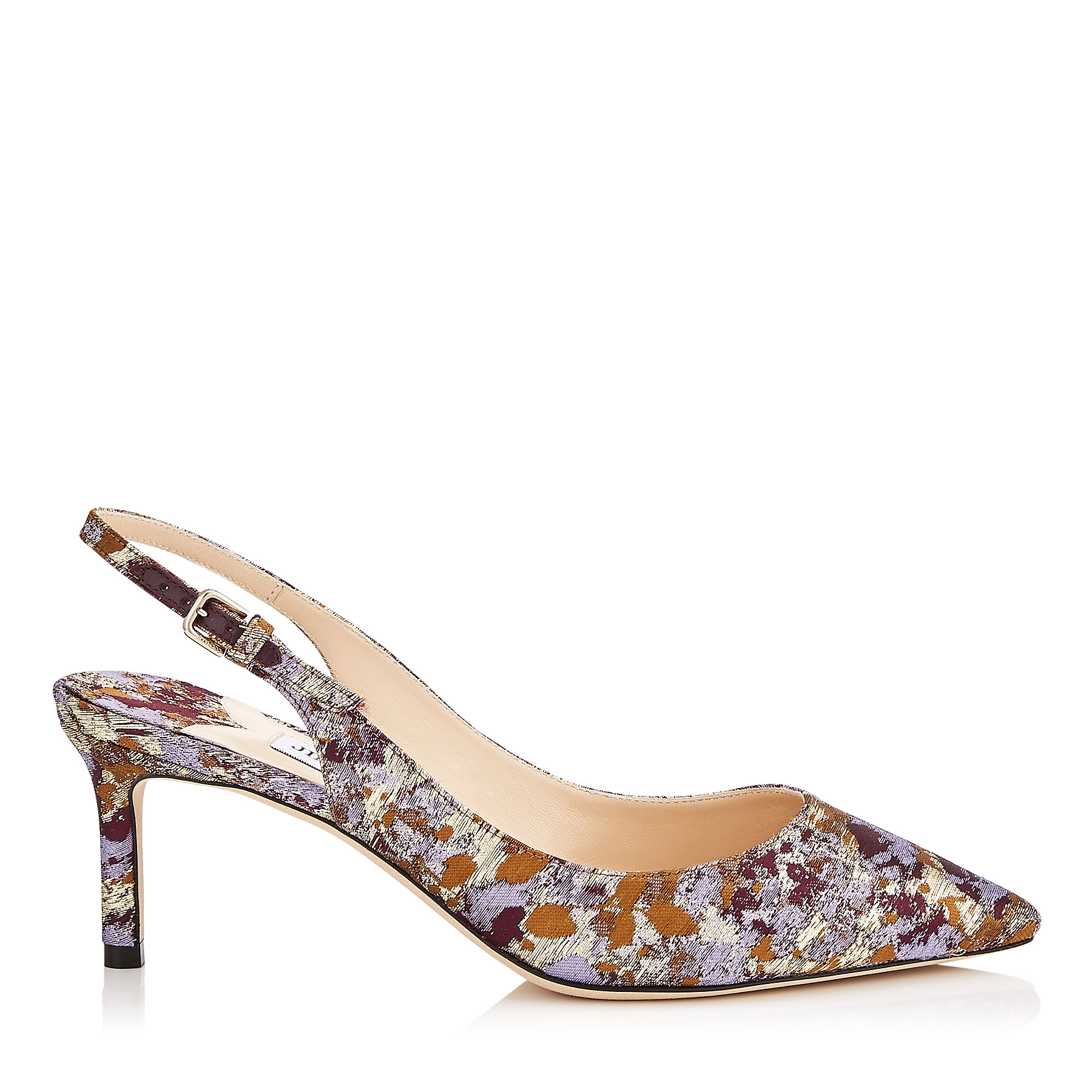 ERIN 60 Grape Mix Painterly Brocade Pointy Toe Pump by Jimmy Choo