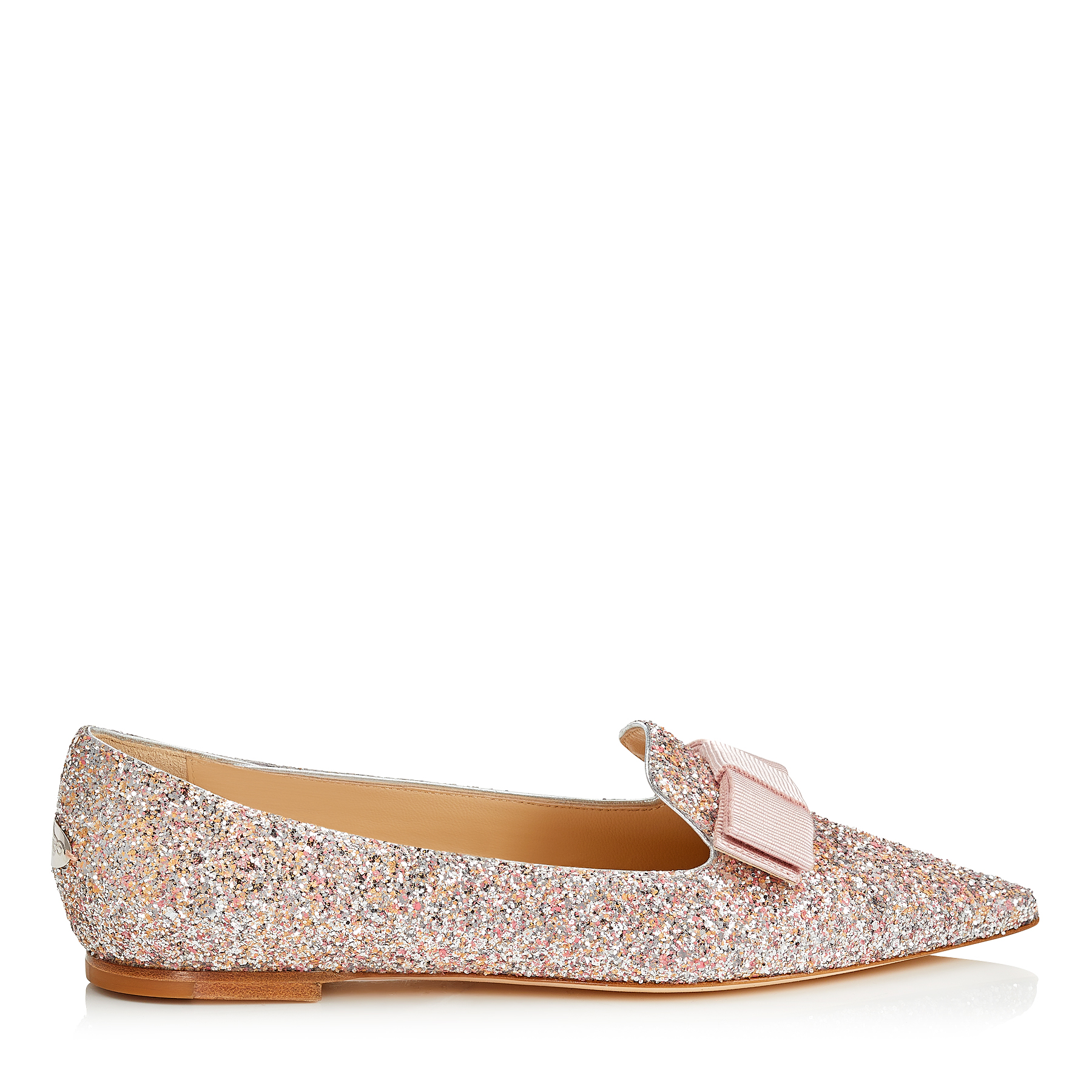 GALA Viola Mix Speckled Glitter Pointy Toe Flats by Jimmy Choo