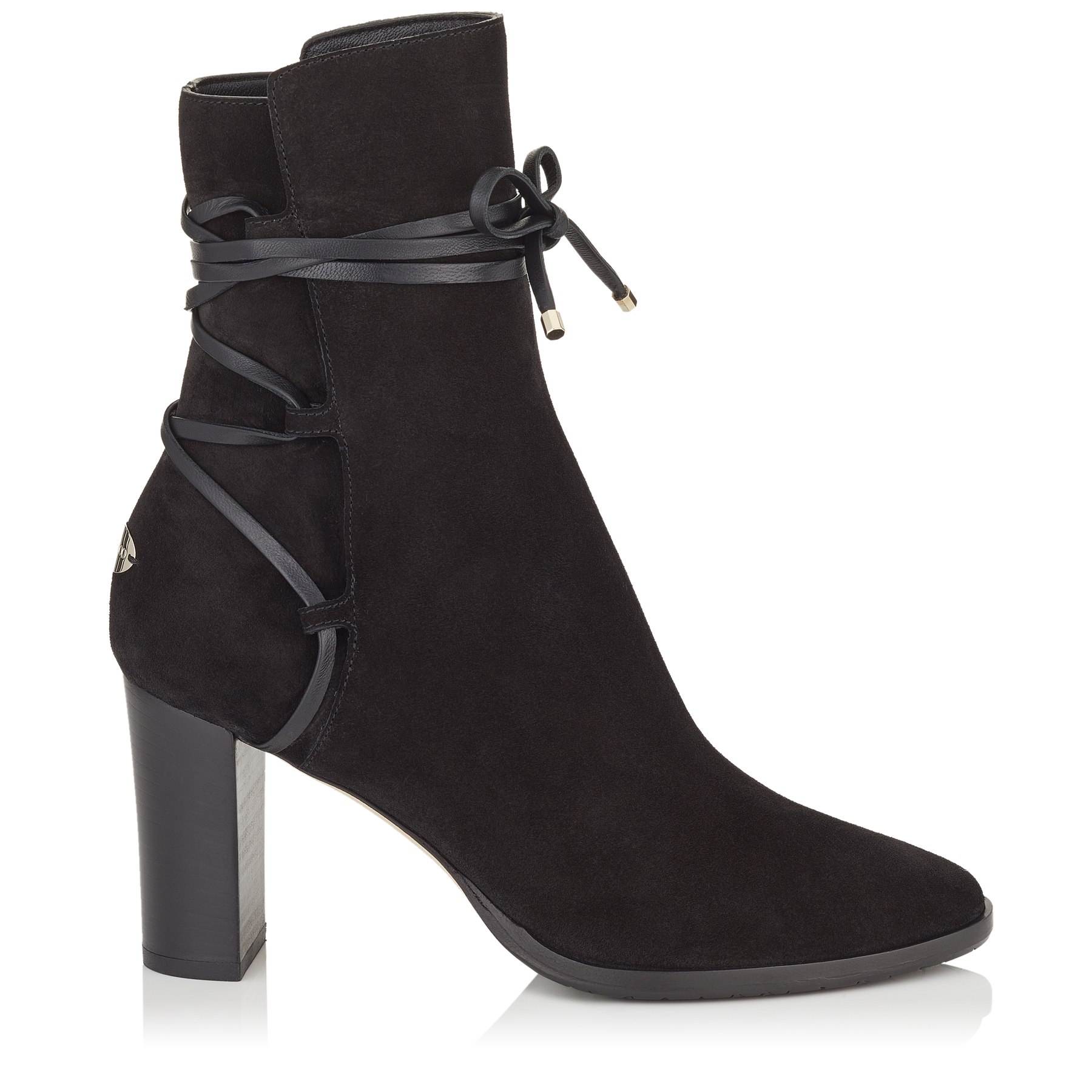 HAMPTON 80 Black Suede and Leather Boots by Jimmy Choo