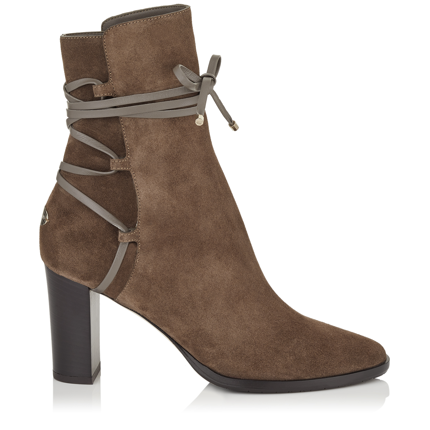 HAMPTON 80 Mink Suede and Leather Boots by Jimmy Choo