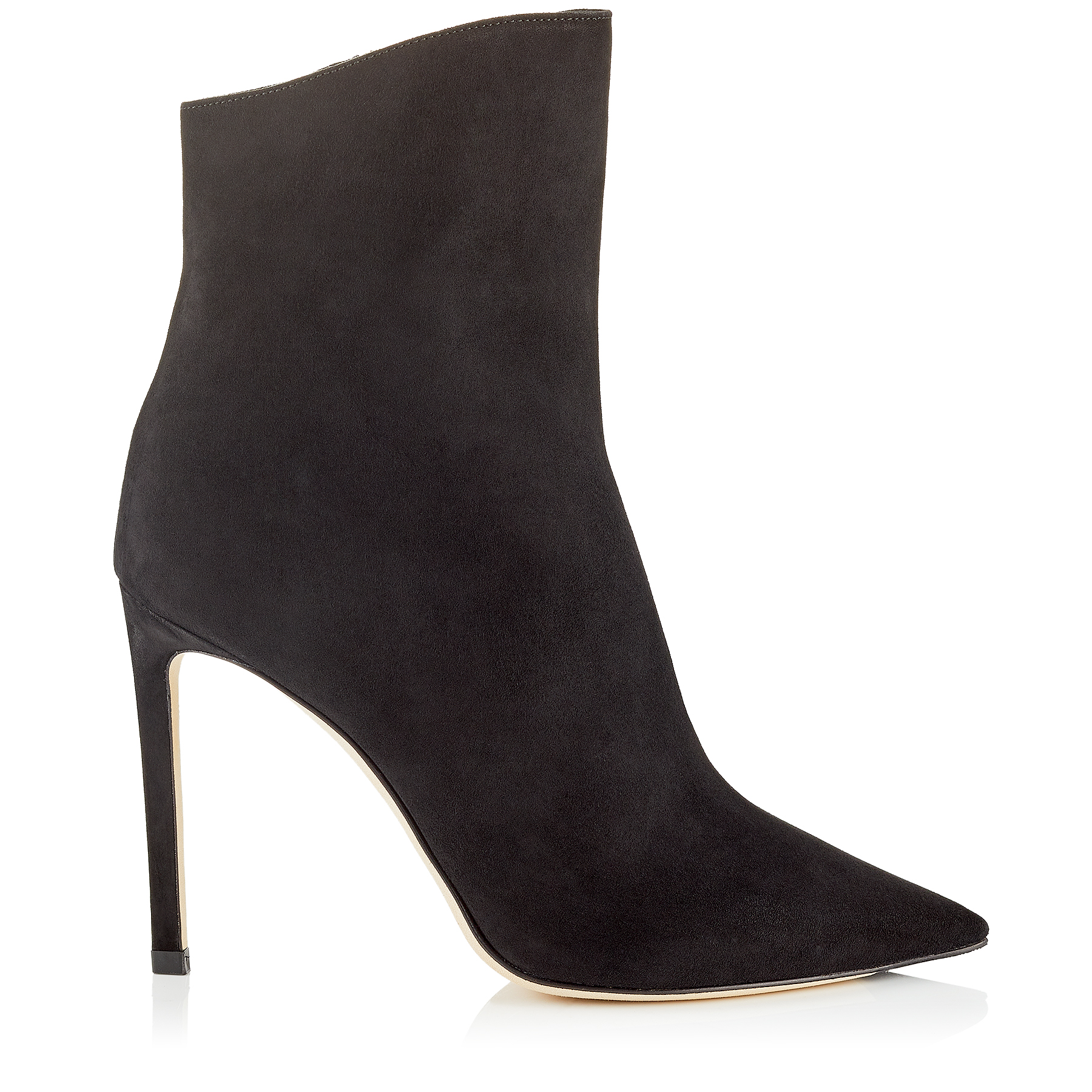 HELAINE 100 Black Suede Booties by Jimmy Choo