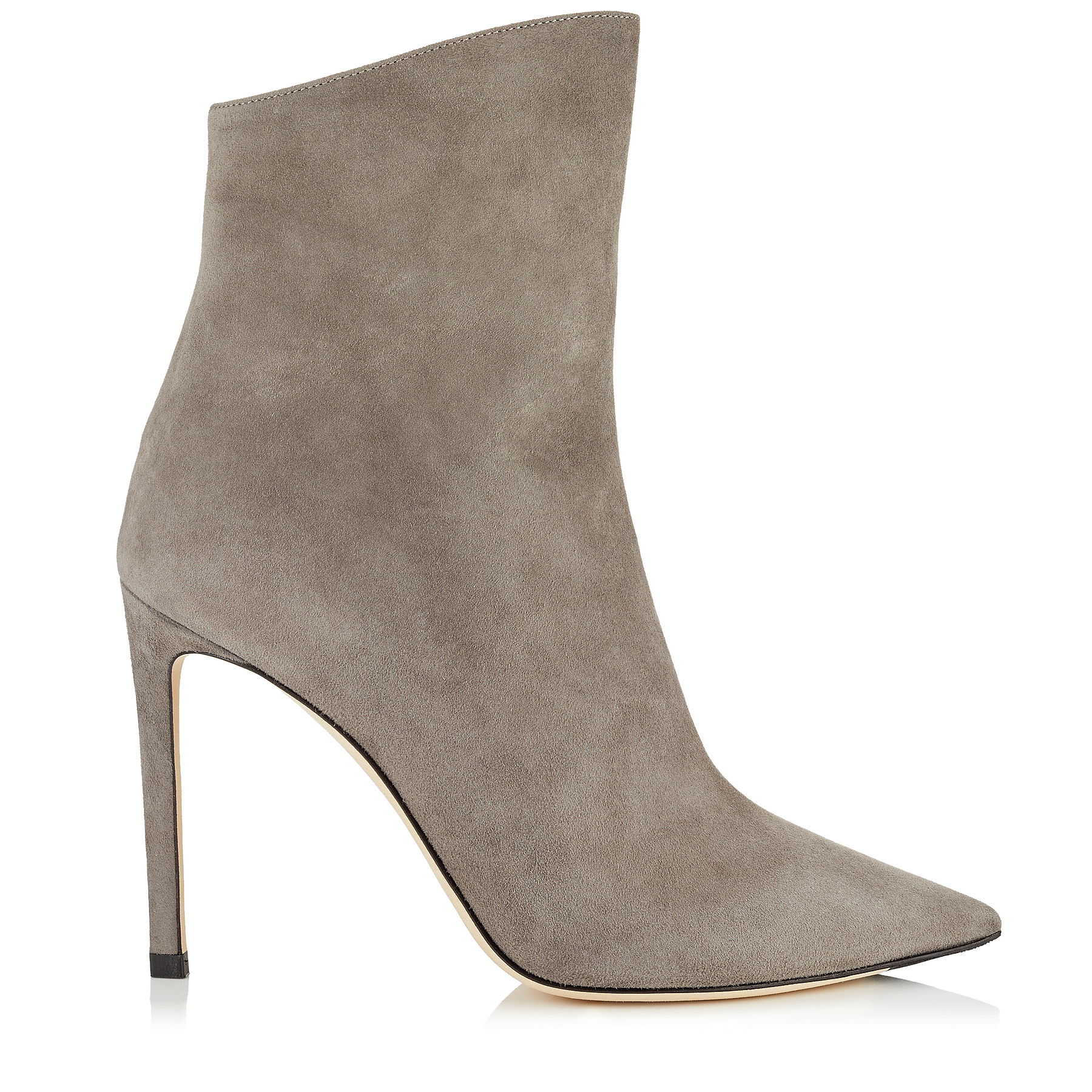 HELAINE 100 Dark Grey Suede Booties by Jimmy Choo