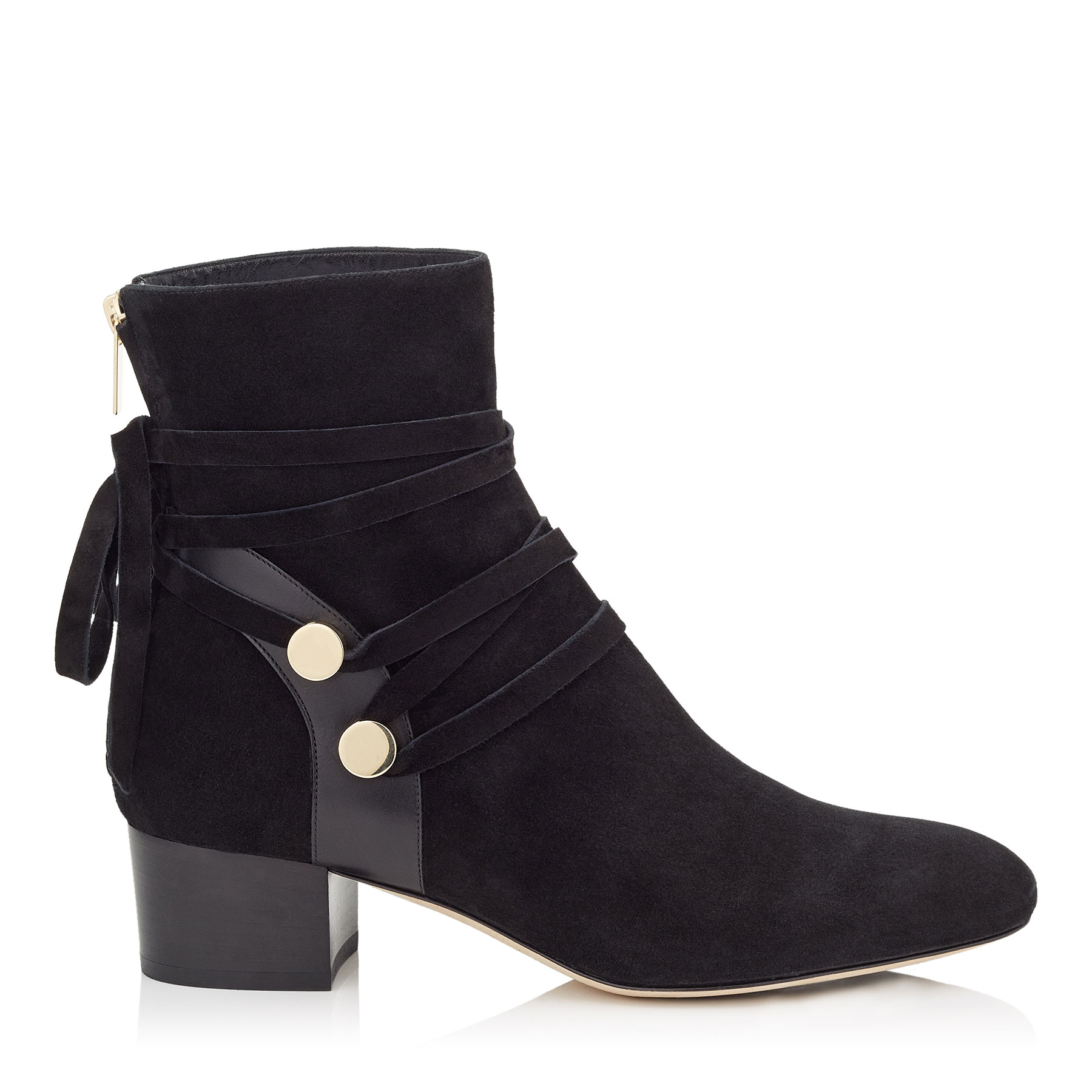 HOUSTON 45 Black Suede Ankle Boots by Jimmy Choo