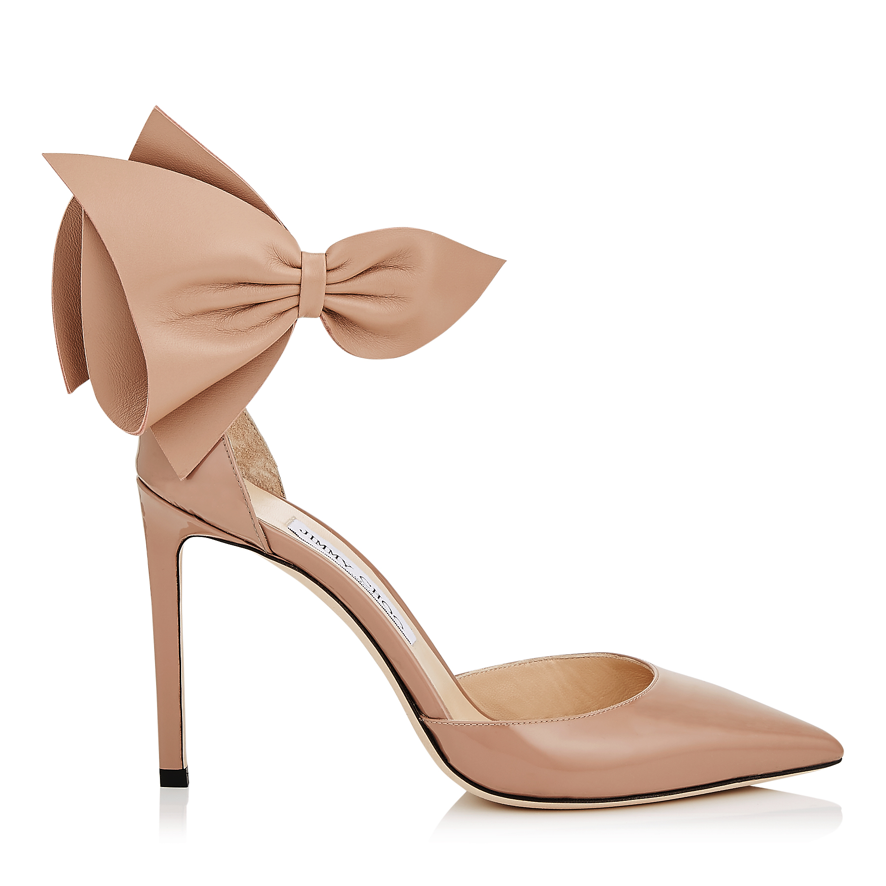 KELLEY 100 Ballet Pink Patent and Nappa Leather Pointy Toe Pumps by Jimmy Choo