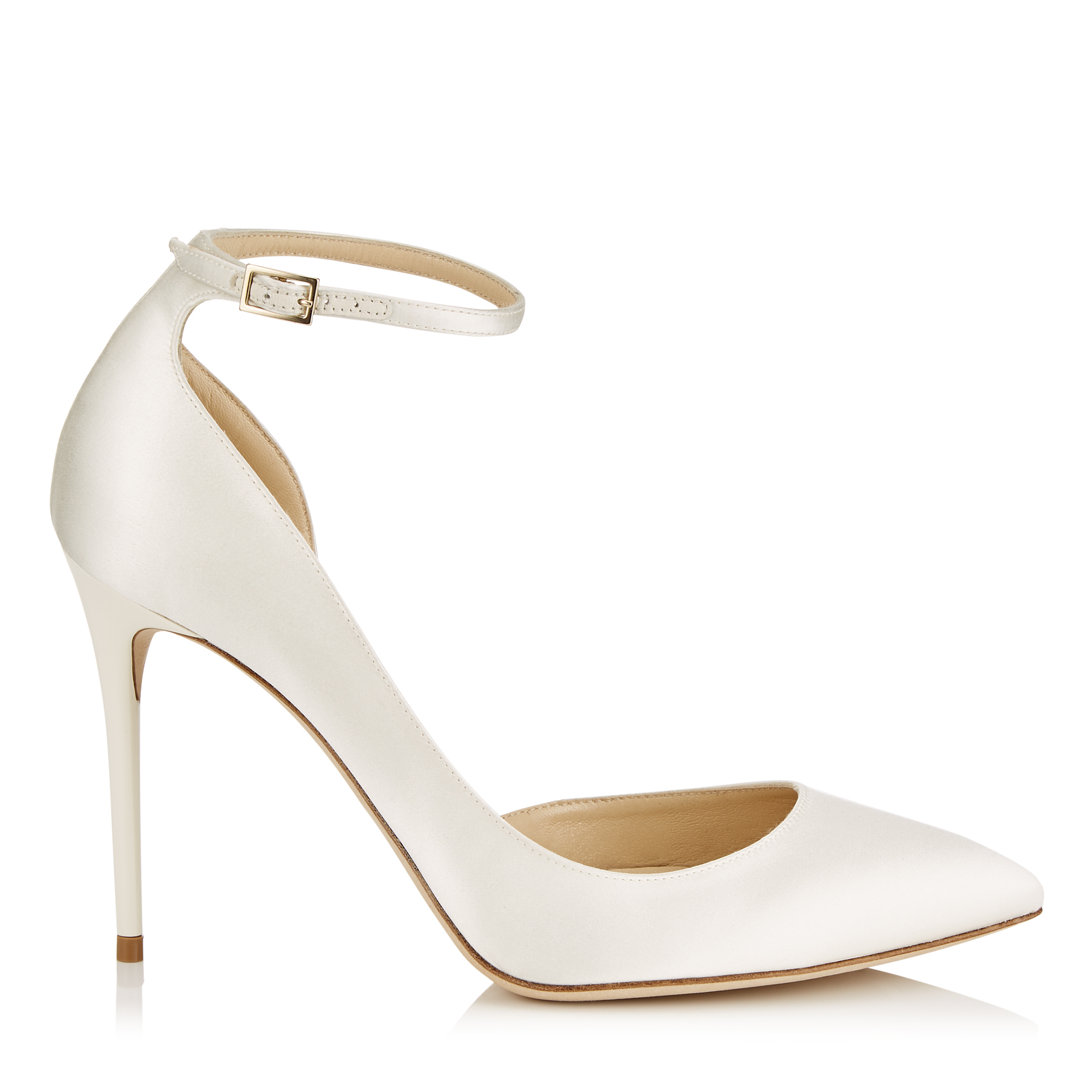 LUCY 100 Ivory Satin Pointy Toe Pumps by Jimmy Choo