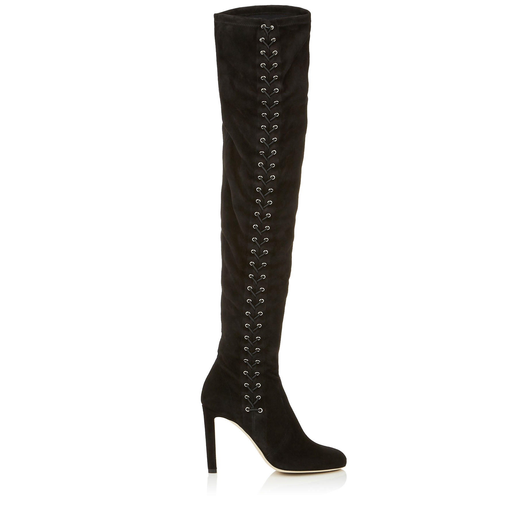 MARIE 100 Black Suede Over the Knee Boots by Jimmy Choo