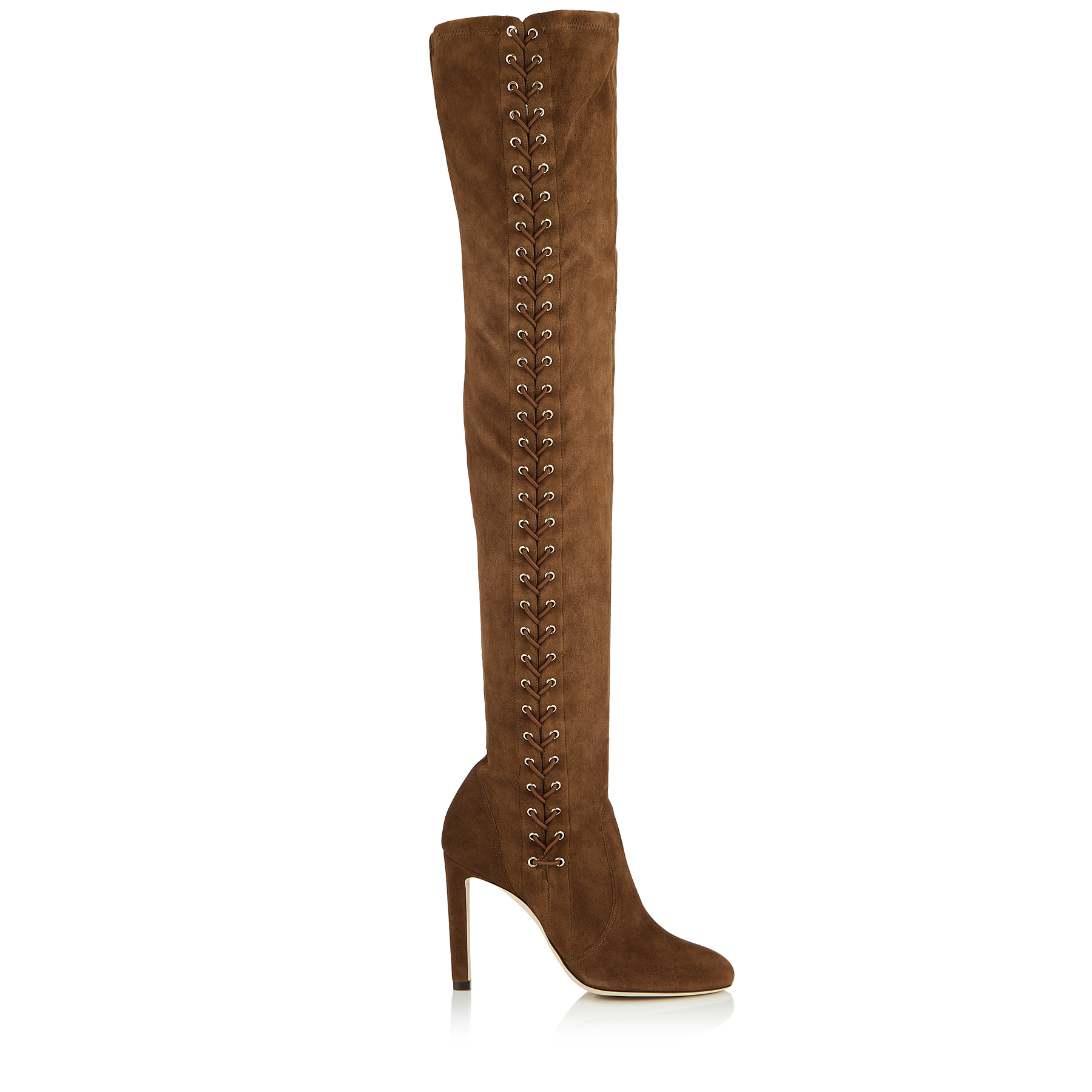 MARIE 100 Cedar Suede Over the Knee Boots by Jimmy Choo