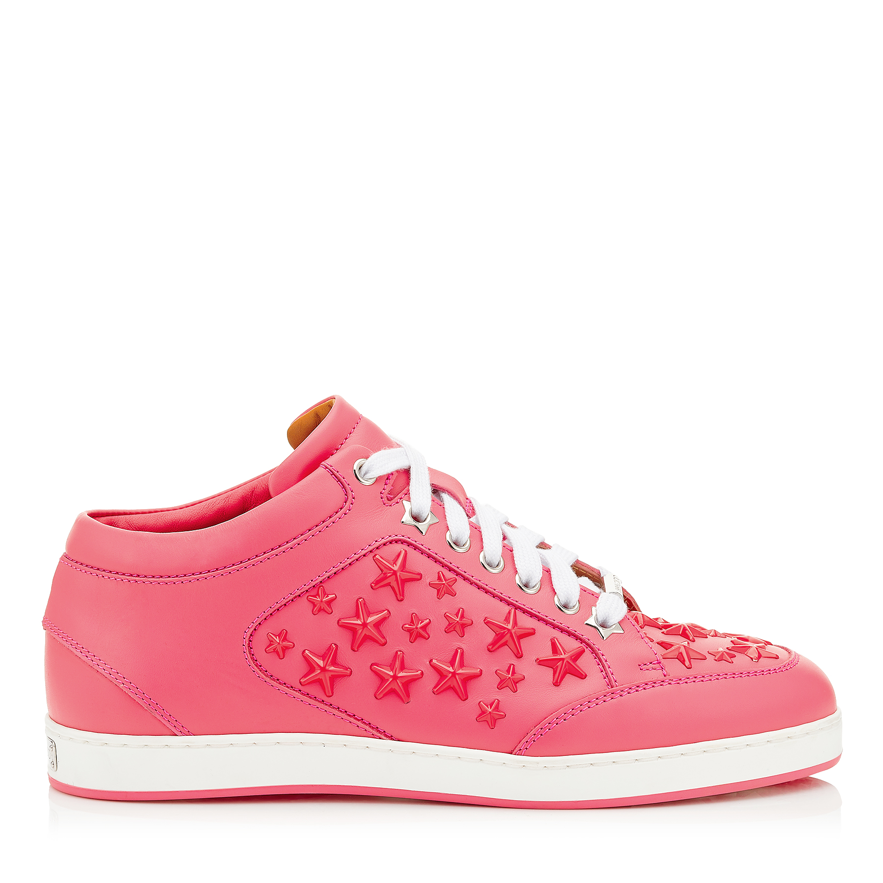 MIAMI Flamingo leather Sneakers with Enamel Stars by Jimmy Choo