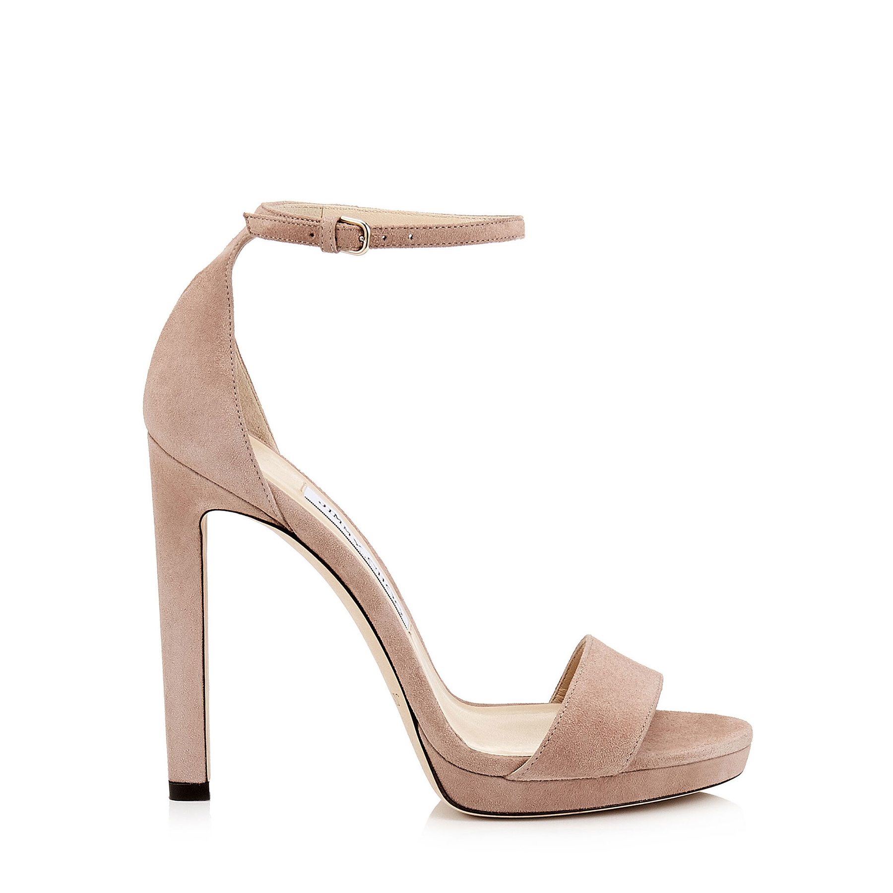 MISTY 120 Ballet Pink Platform Sandals by Jimmy Choo