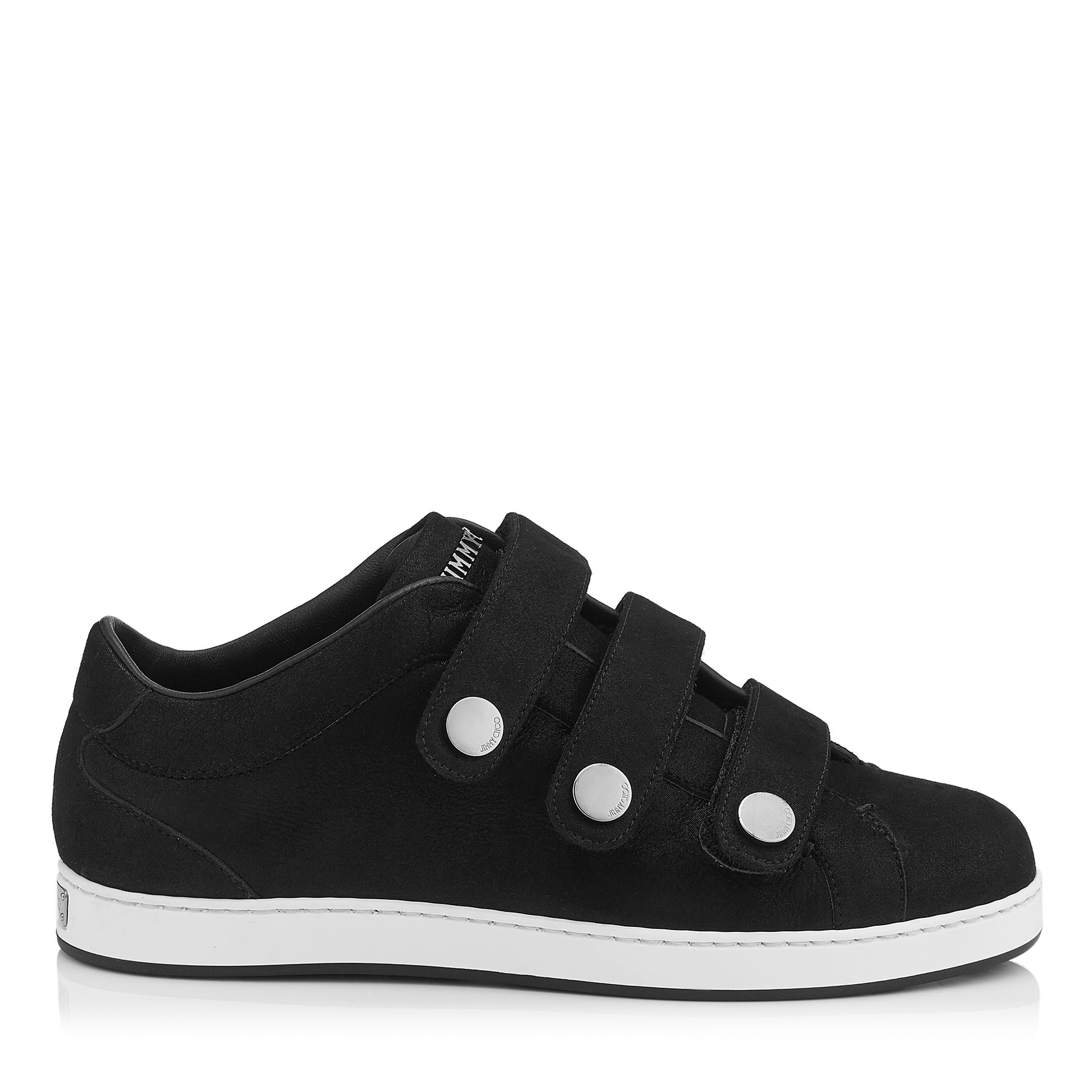 NY Black Shimmer Suede Trainers by Jimmy Choo