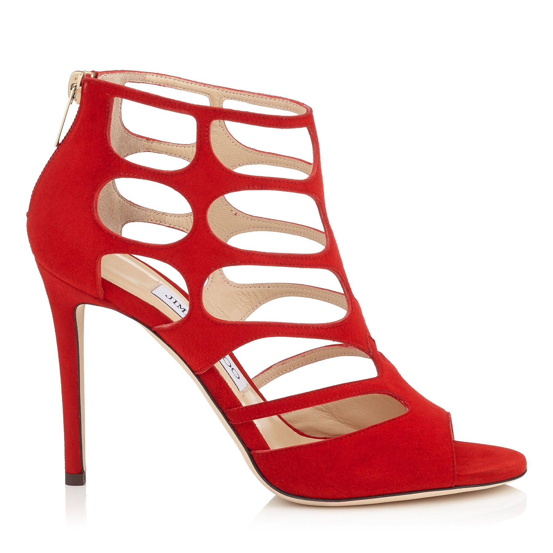 REN 100 Red Suede Sandals by Jimmy Choo
