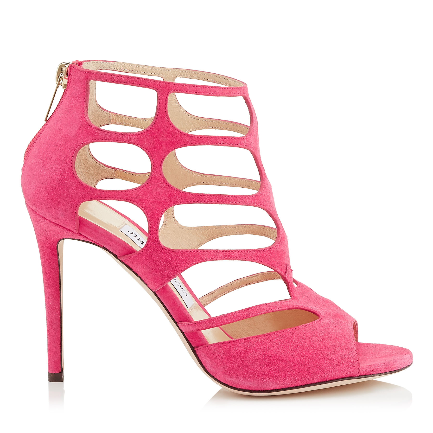 REN 100 Pink Suede Sandals by Jimmy Choo