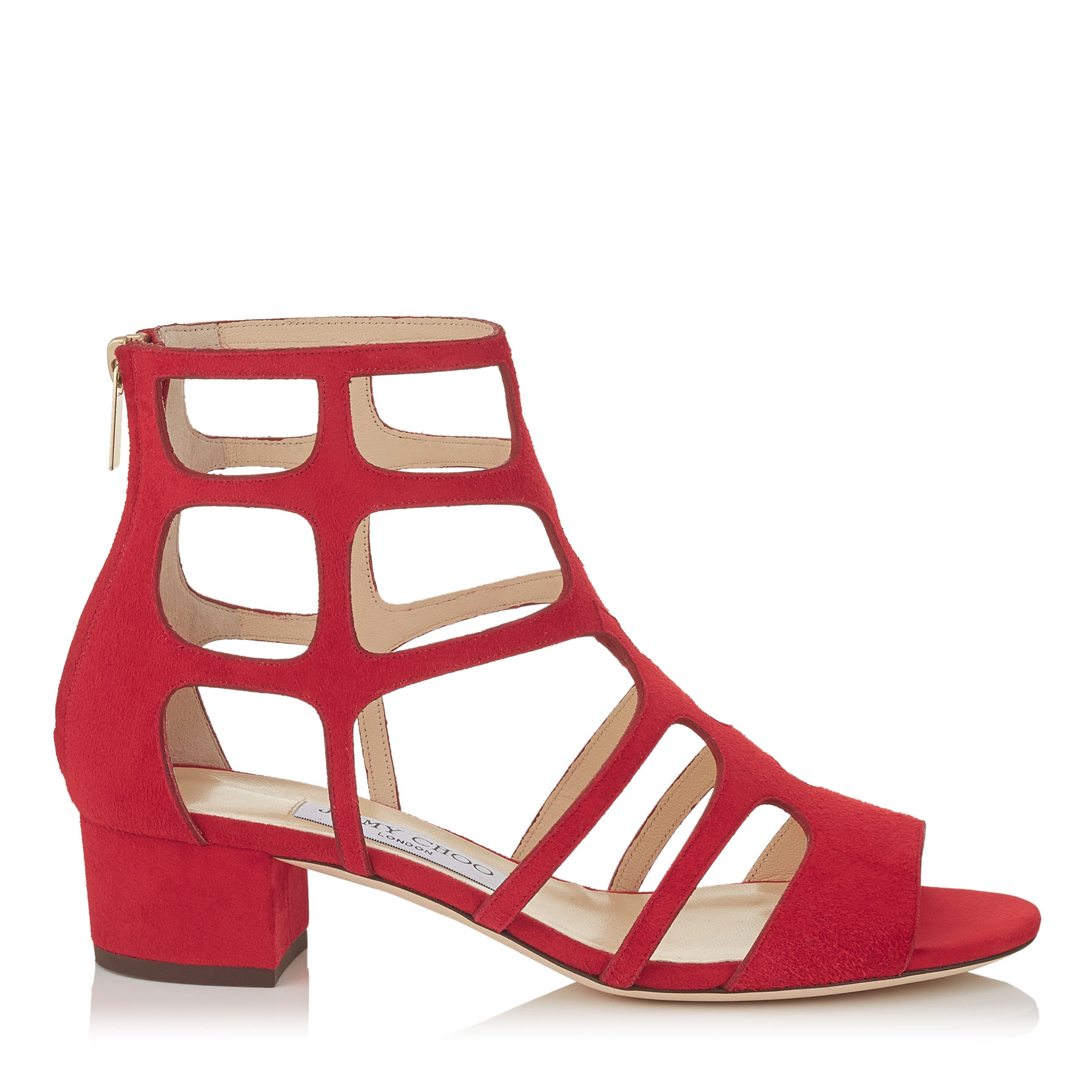 REN 35 Red Suede Sandals by Jimmy Choo