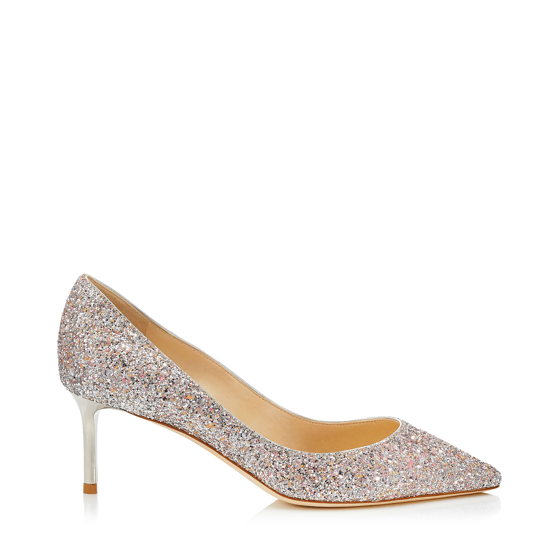 ROMY 60 Viola Mix Speckled Glitter Pointy Toe Pumps by Jimmy Choo