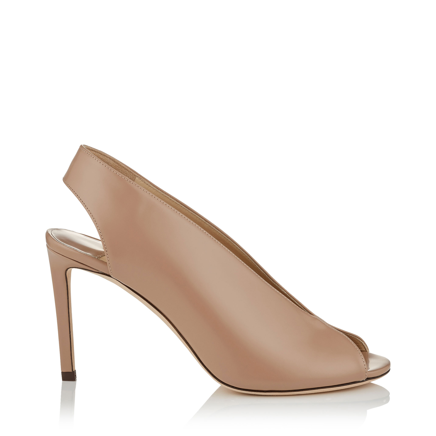 SHAR 85 Ballet Pink Liquid Leather Sandal Booties by Jimmy Choo
