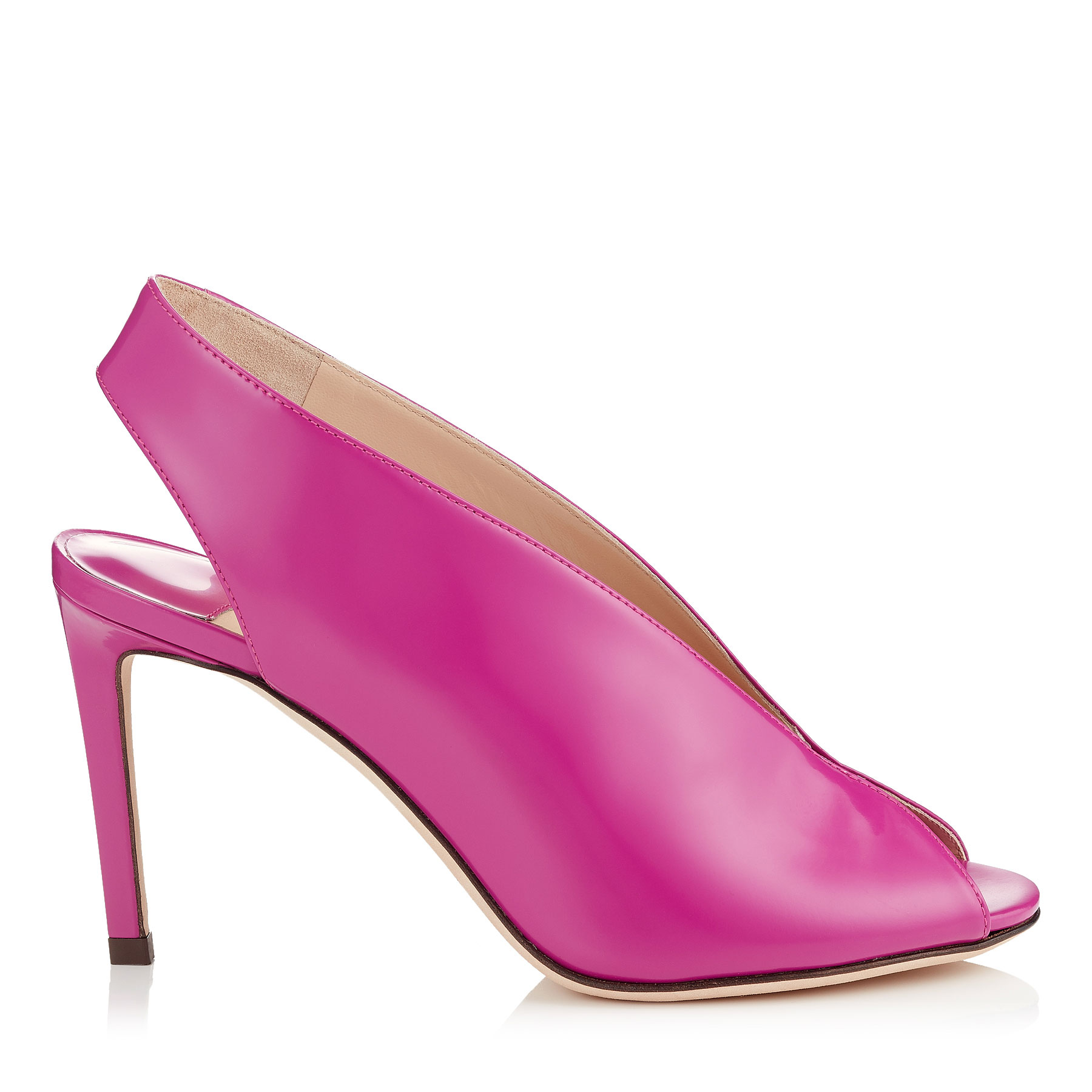 SHAR 85 Magenta Liquid Leather Sandal Booties by Jimmy Choo