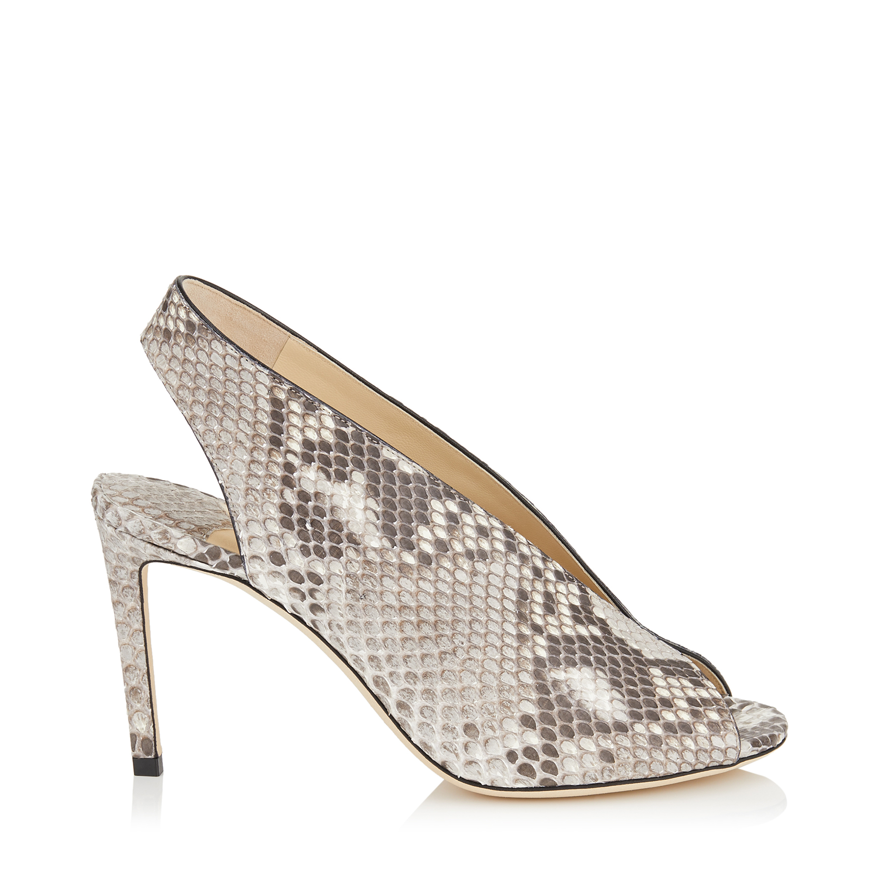 SHAR 85 Natural Matt Python Sandal Booties by Jimmy Choo