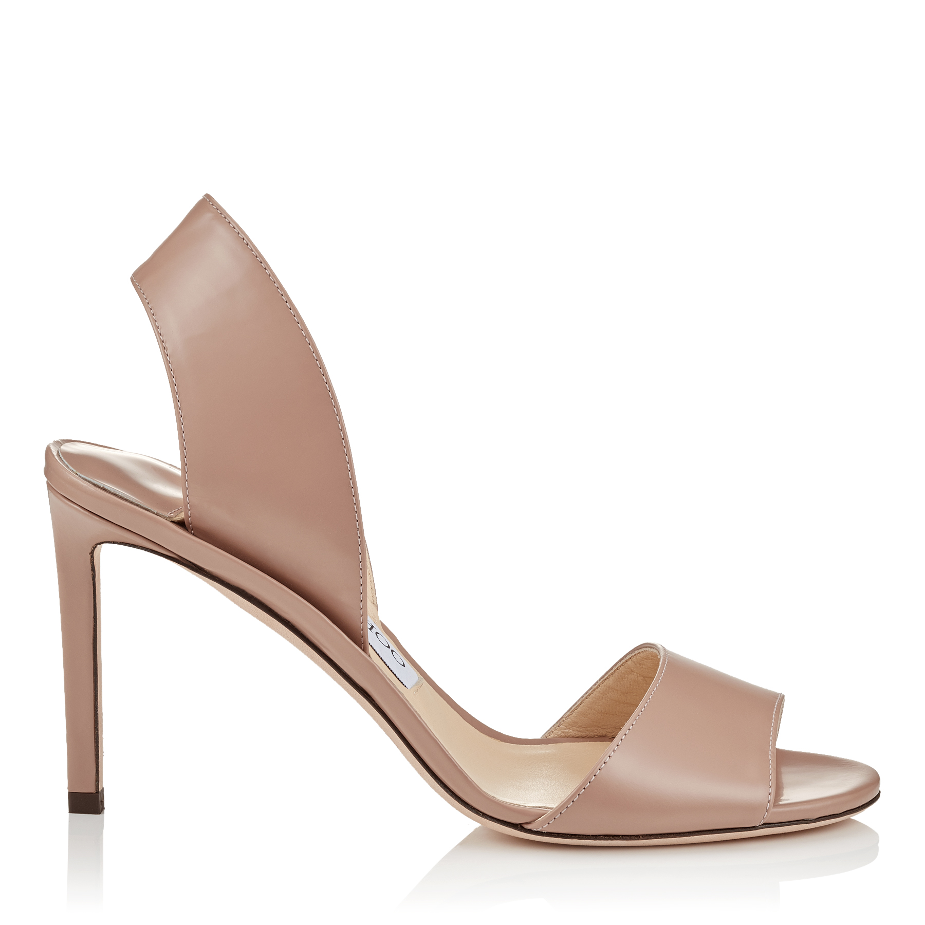 SHEILA 85 Ballet Pink Liquid Leather Mules by Jimmy Choo