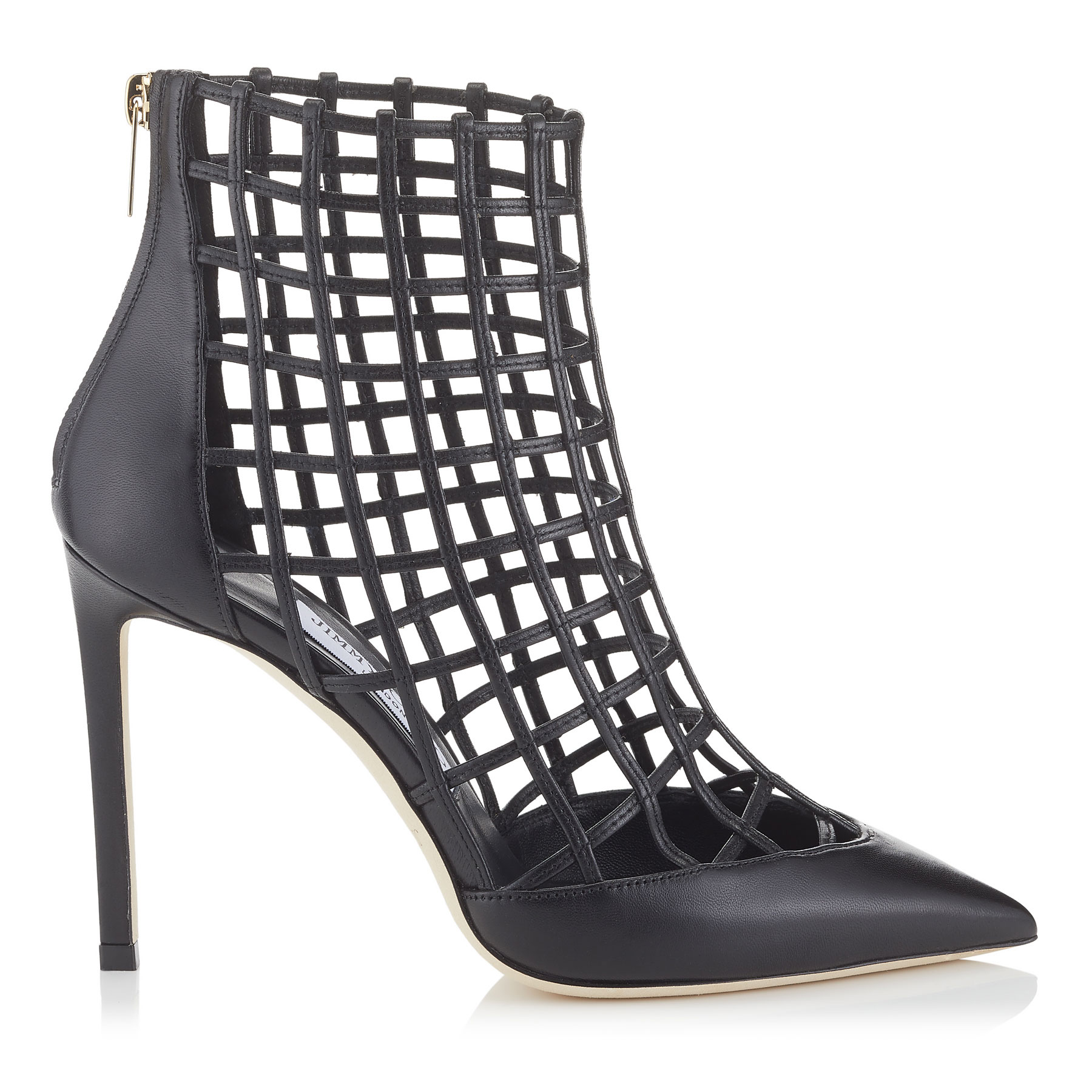 Photo of SHELDON 100 Black Nappa Leather Booties by Jimmy Choo womens shoes - buy Jimmy Choo footwear online