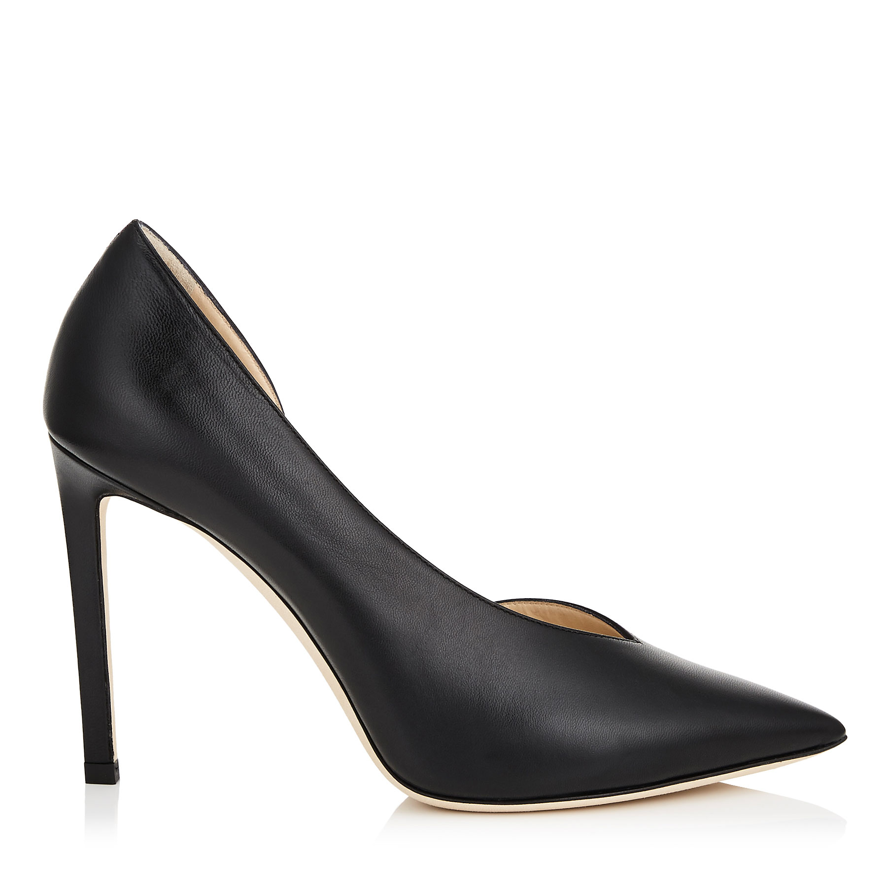 SOPHIA 100 Black Kid Leather Pointy Toe Pumps by Jimmy Choo