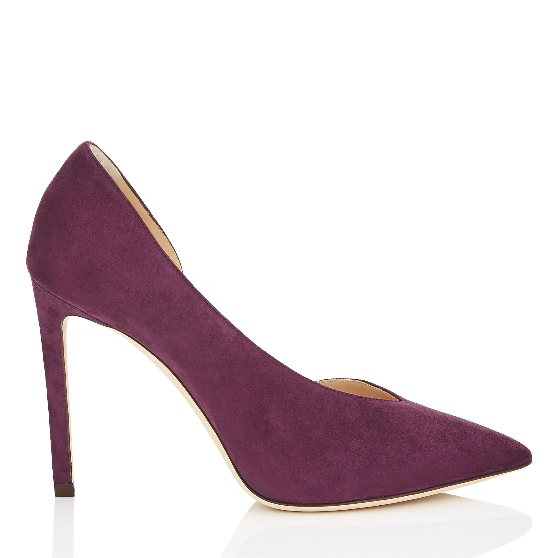 Photo of SOPHIA 100 Grape Suede Pointy Toe Pumps by Jimmy Choo womens shoes - buy Jimmy Choo footwear online