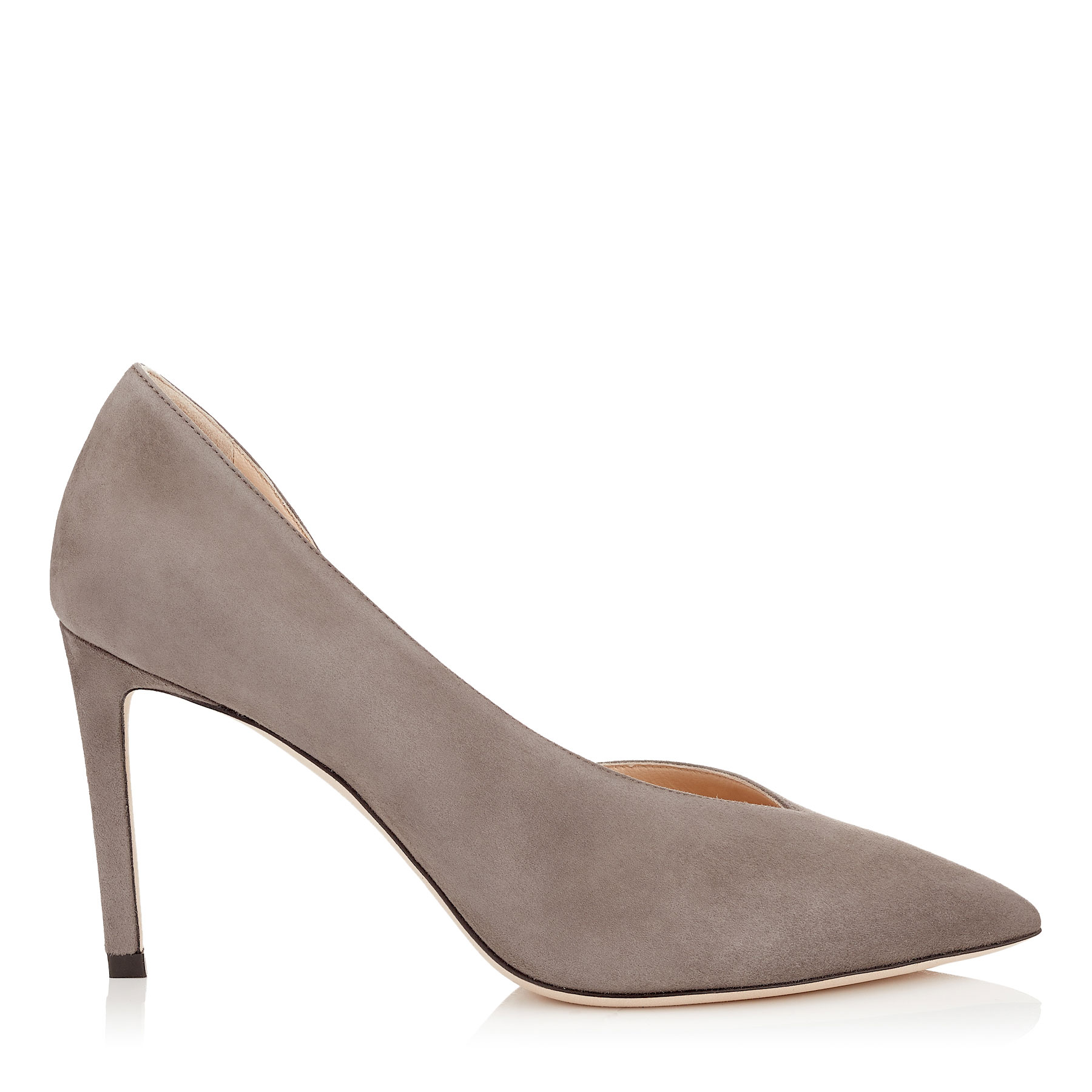 SOPHIA 85 Dark Grey Suede Pointy Toe Pumps by Jimmy Choo
